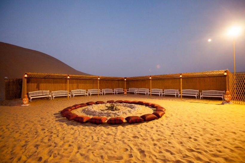 abu dhabi bedouin desert camp – al khazna